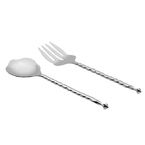 Twist Salad Stainless Steel Server Set