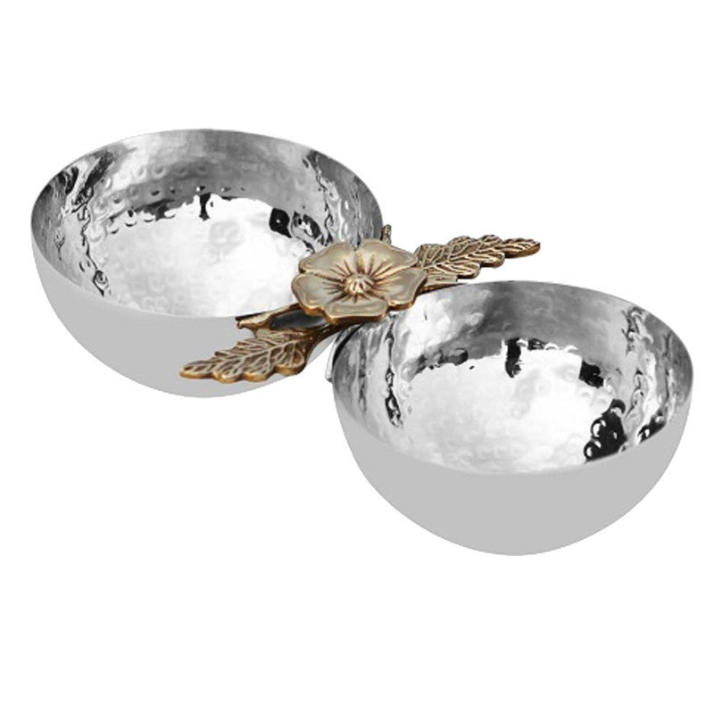 New Leaf Stainless Steel Nut Bowl - 2 Bowls