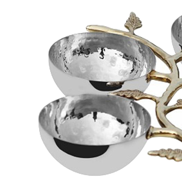 New Leaf Stainless Steel Nut Bowl - 4 Bowls