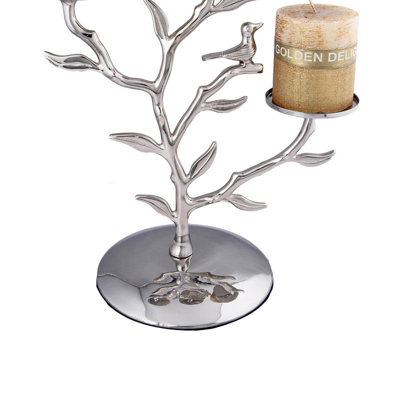 Tree Stainless Steel Candle Stand