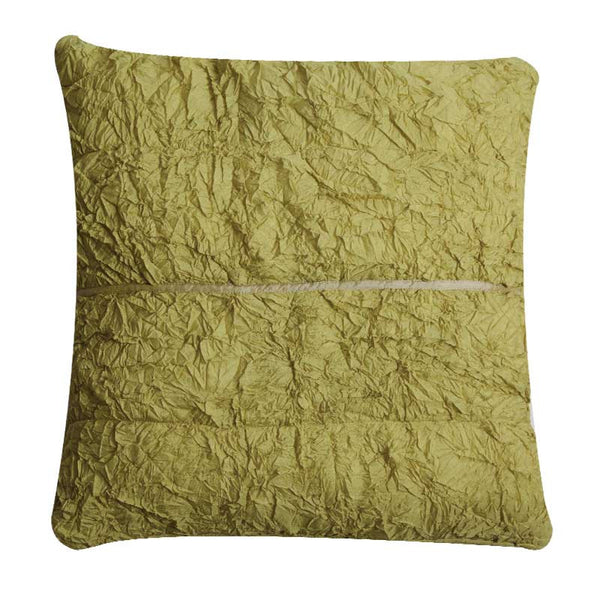 Abraham and Thakore Tiya crushed silk cushion cover