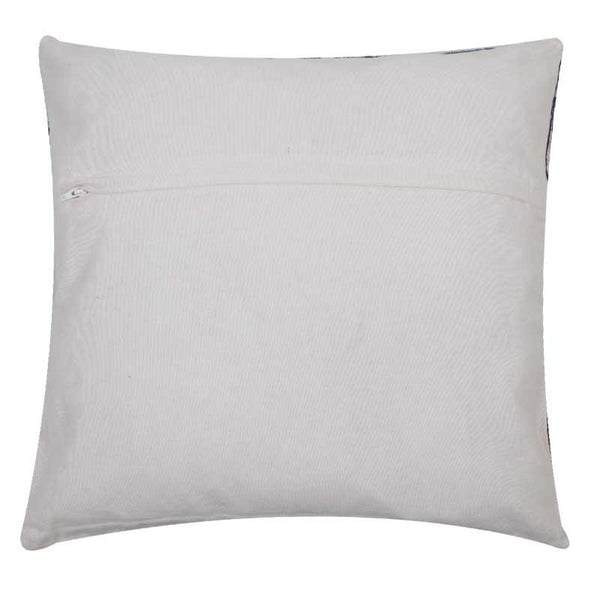Abraham and Thakore Ivory & navy cushion cover