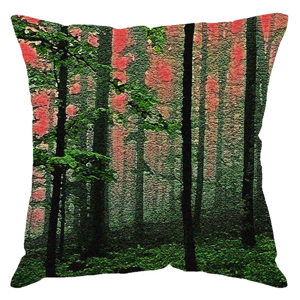 Leaf Designs Woods Digital Print Cushion Cover