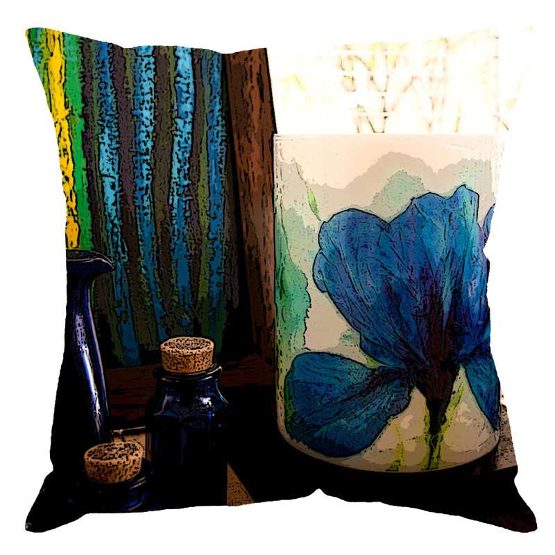 Leaf Designs Multi Colour Digital Print Cushion Cover II