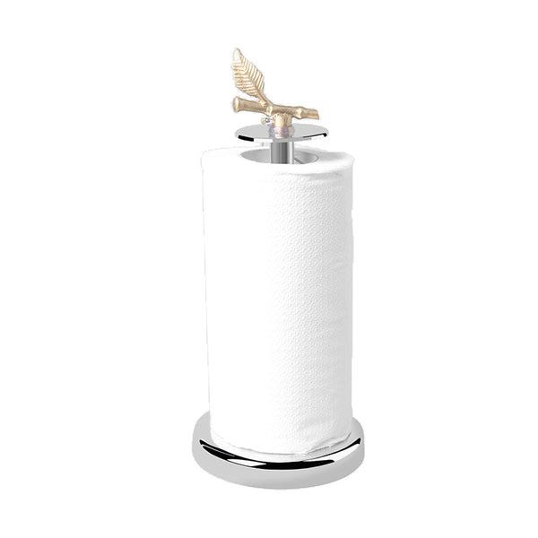 Bamboo Stainless Steel Tissue Roll Holder