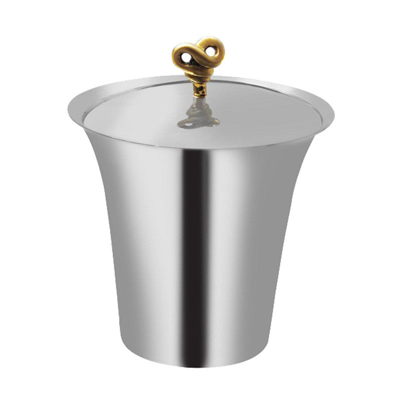 Double Knot Stainless Steel Ice Bucket