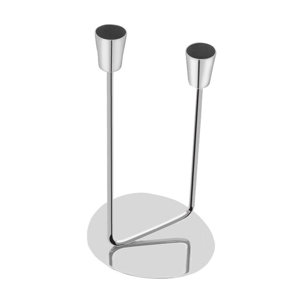 Two Heads Stainless Steel Candle Stand