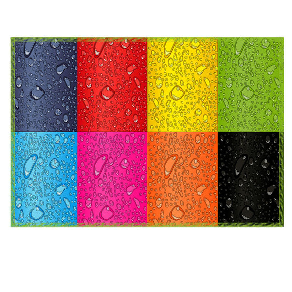 Leaf Designs Multicoloured Rectangles Fabric Table Mat - Set of 6