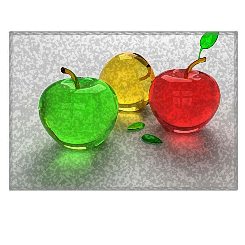 Leaf Designs Multicoloured Apples Fabric Table Mat - Set of 6