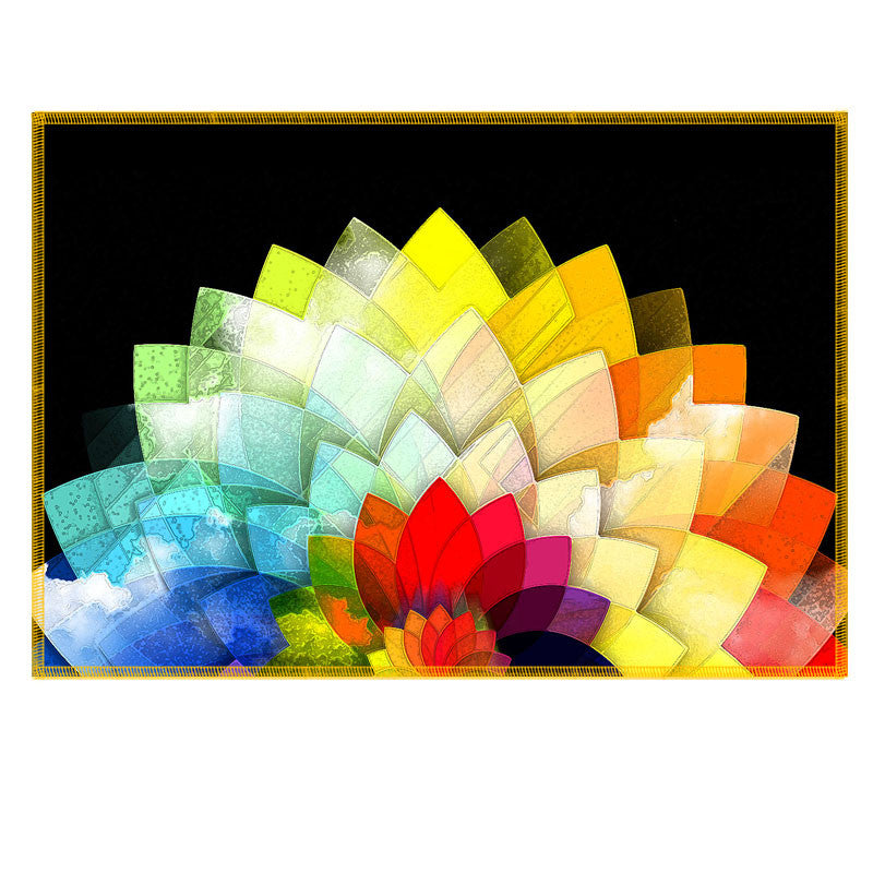Leaf Designs Multicoloured Lotus Fabric Table Mat - Set of 6