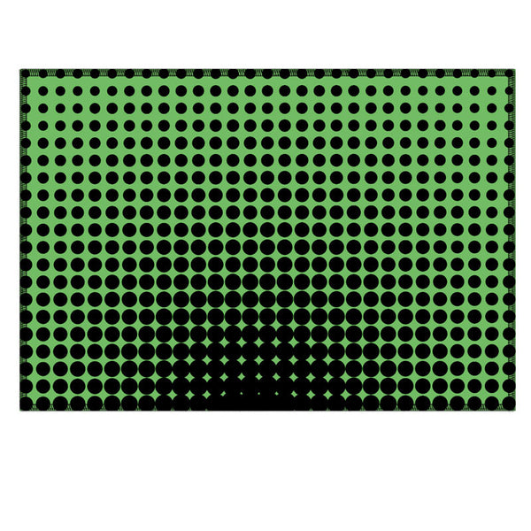 Leaf Designs Green Optical Illusions Fabric Table Mat - Set of 6