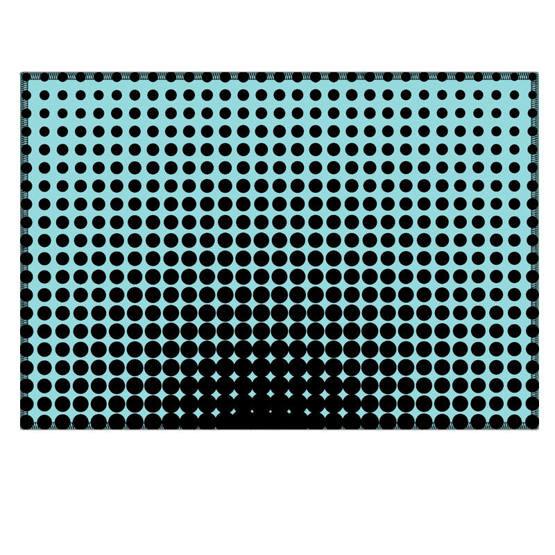 Leaf Designs Blue Optical Illusions Fabric Table Mat - Set of 6
