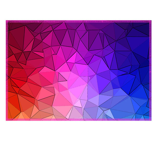 Leaf Designs Multicoloured Diamond Cut Fabric Table Mat (B) - Set of 6