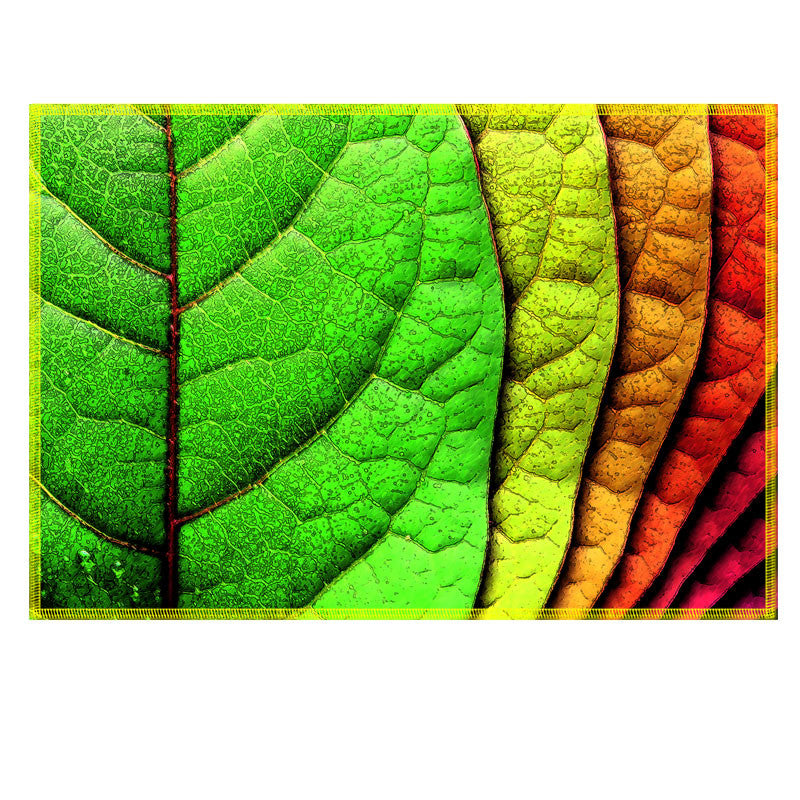 Leaf Designs Multicoloured Fabric Table Mat - Set of 6
