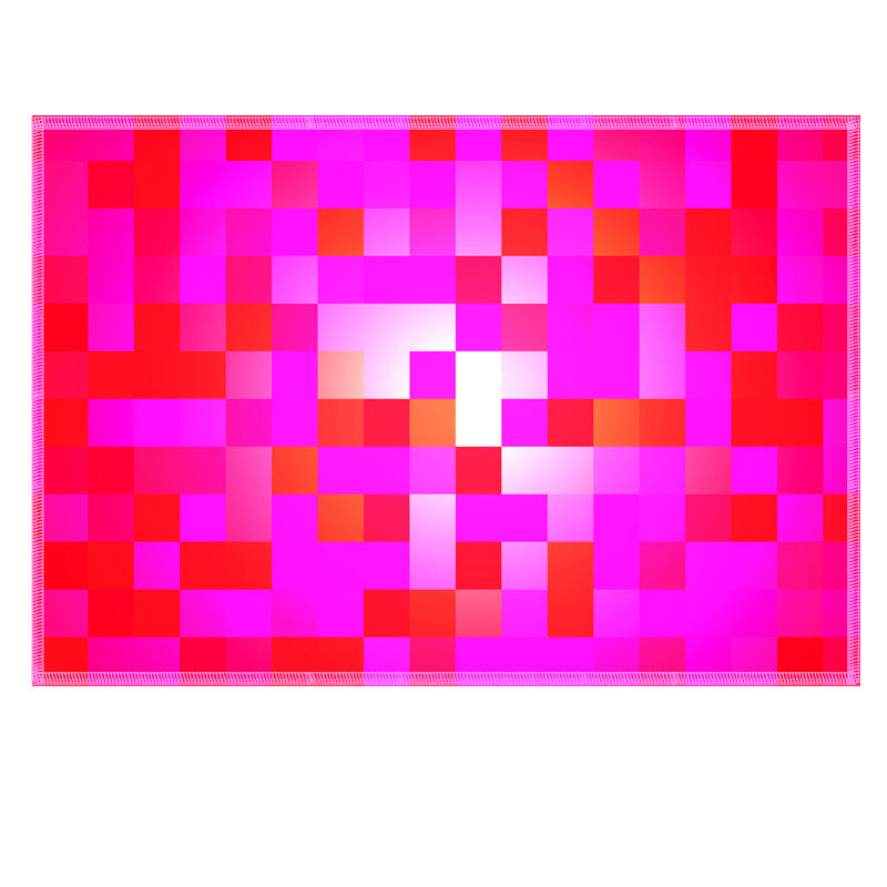Leaf Designs Pink Checkered Fabric Table Mat - Set of 6