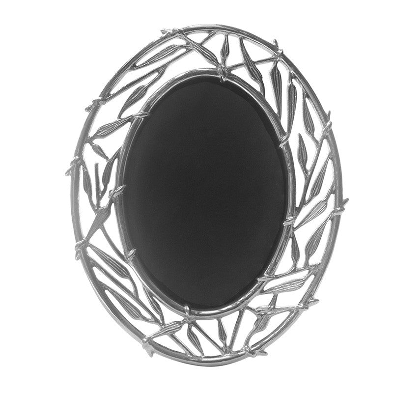 Bamboo Stainless Steel Oval Photo Frame