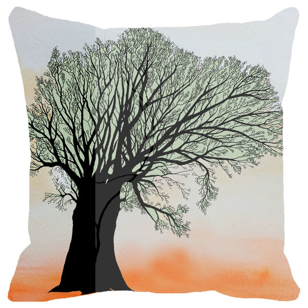 Leaf Designs Tree Cushion Cover