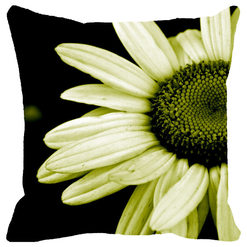 Leaf Designs Lemon Daisy Cushion Cover