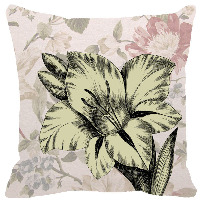 Leaf Designs Chintz Floral Cushion Cover