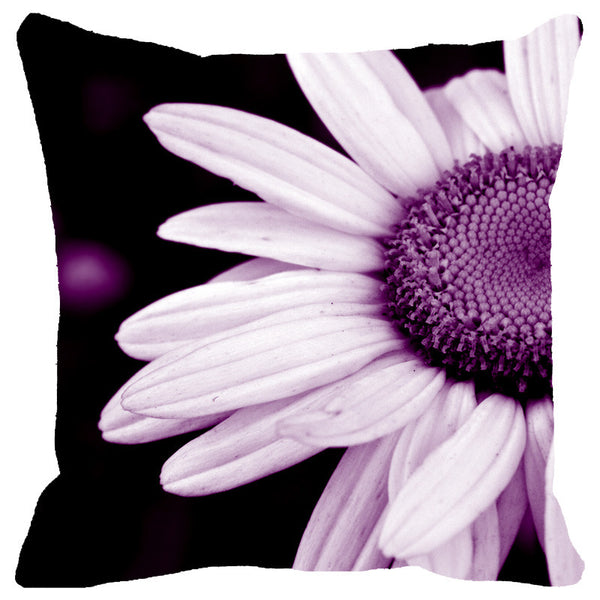Leaf Designs Purple Daisy Cushion Cover