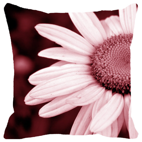 Leaf Designs Pink Daisy Cushion Cover