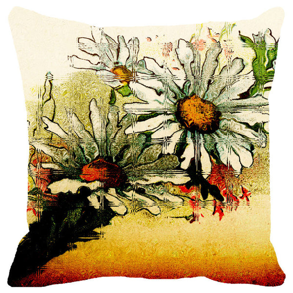 Leaf Designs Sunset Multicoloured Floral Cushion Cover