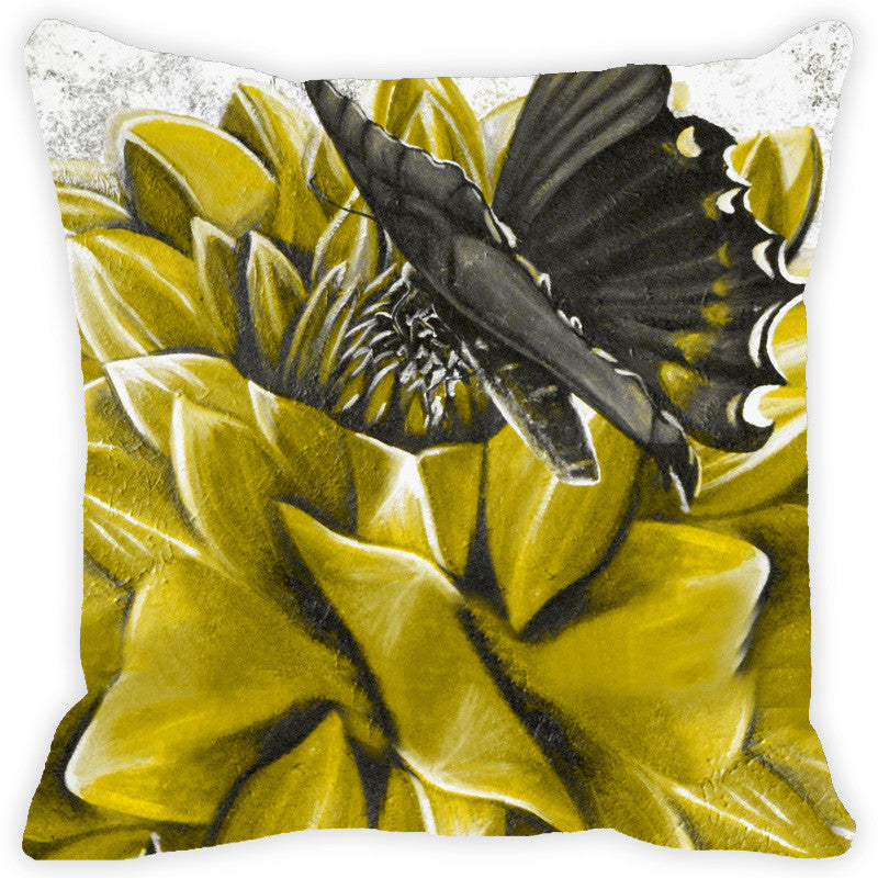 Leaf Designs Green Butterfly Cushion Cover
