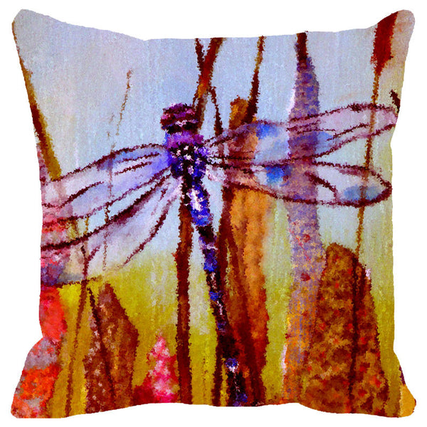 Leaf Designs Lilac Dragonfly Cushion Cover
