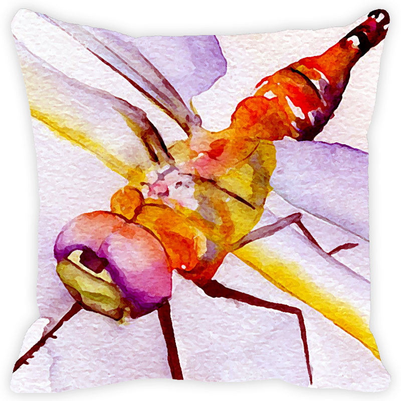 Leaf Designs Lilac & Yellow Cushion Cover