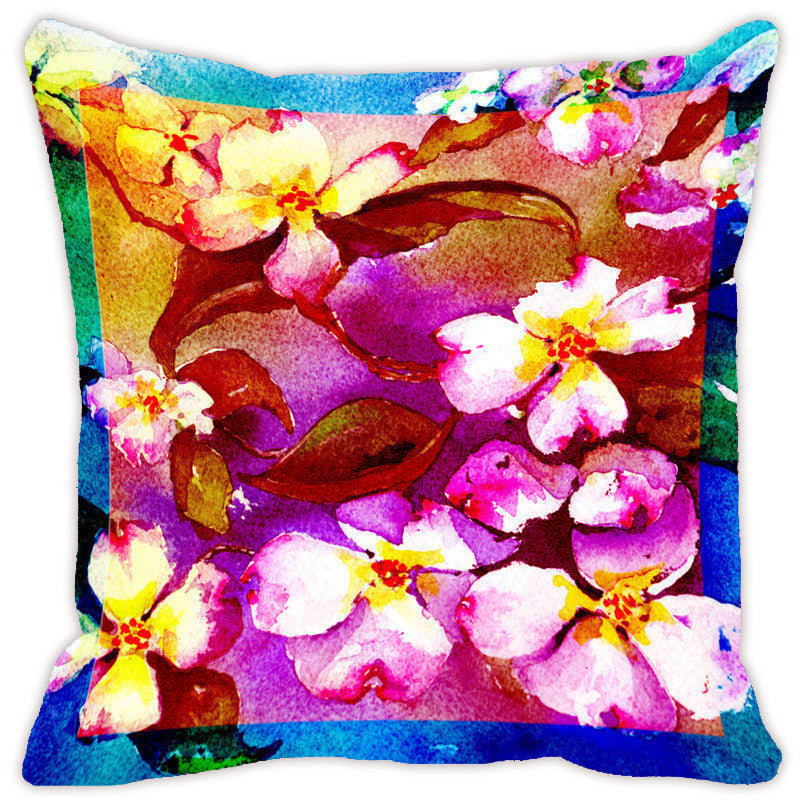 Leaf Designs Hot Pink Flora Cushion Cover