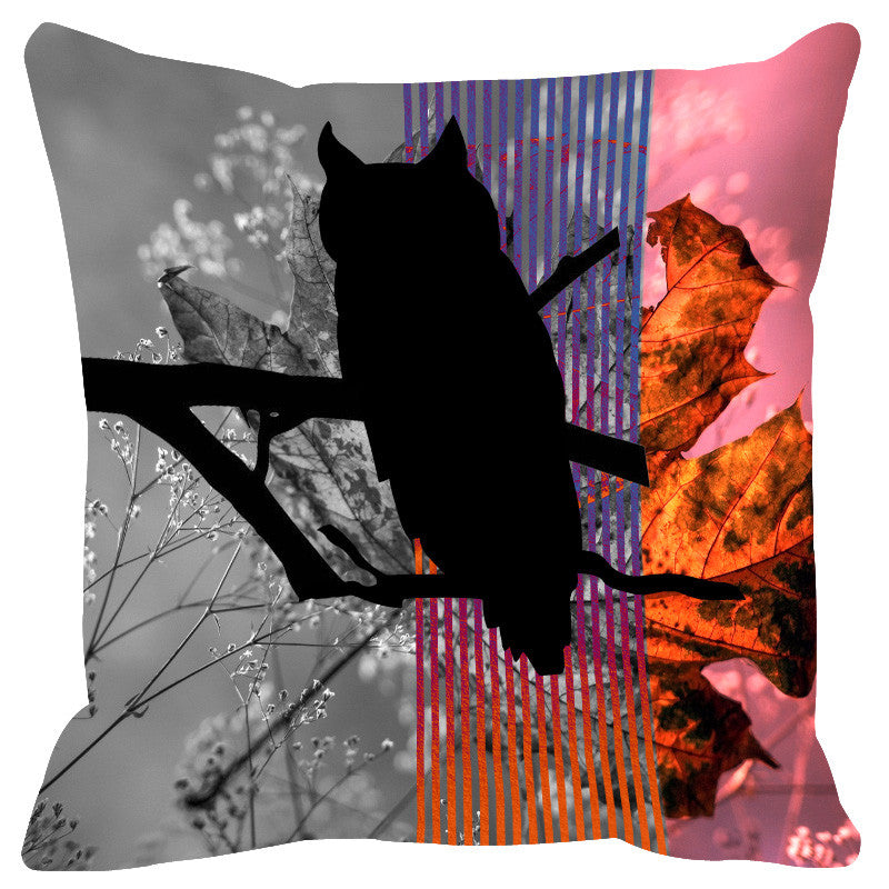 Leaf Designs Amber Black Earth Flora Cushion Cover