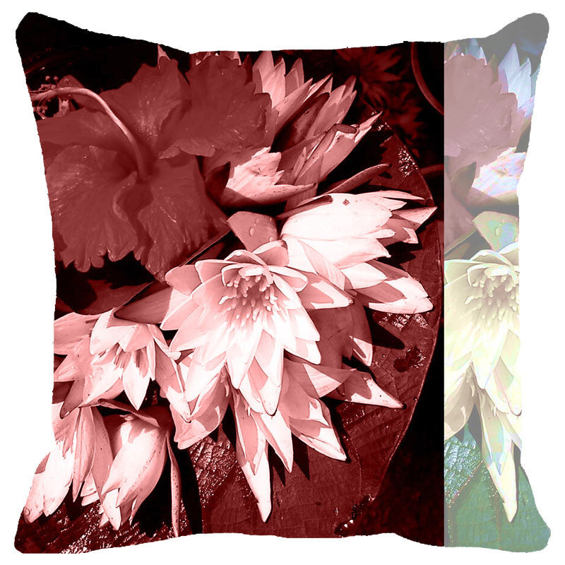 Leaf Designs Mauve Tones Cushion Cover