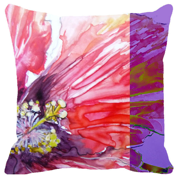 Leaf Designs Water Effect Floral Cushion Cover
