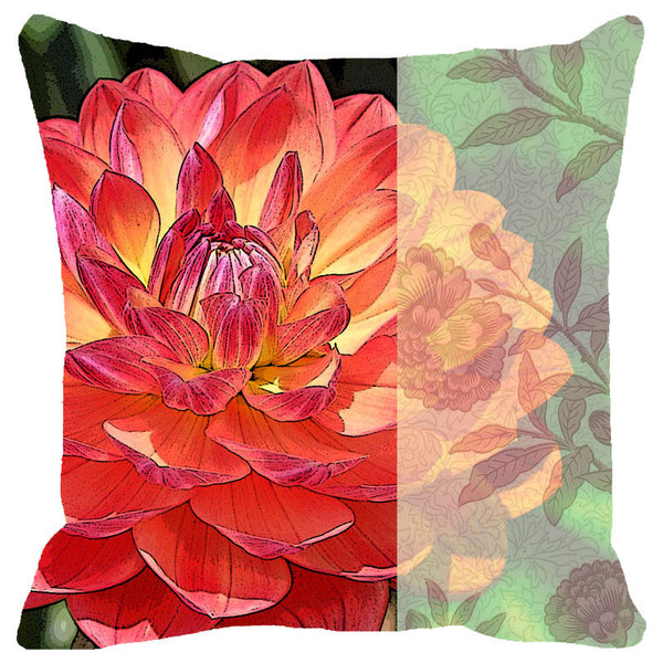 Leaf Designs Dahlia Cushion Cover
