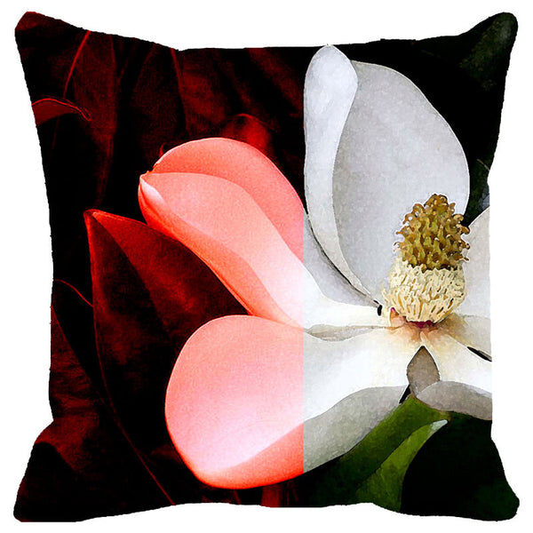 Leaf Designs Dark & Light Floral Cushion Cover