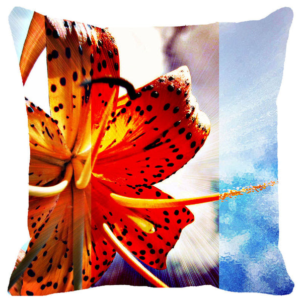 Leaf Designs Hibiscus Cushion Cover