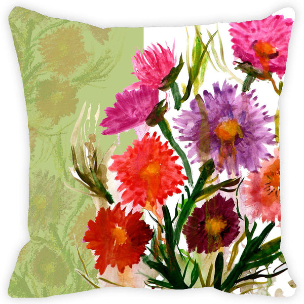 Leaf Designs Multicoloured Daisy Cushion Cover