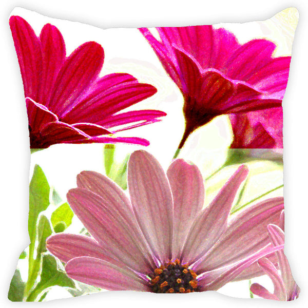 Leaf Designs Double Pink Cushion Cover