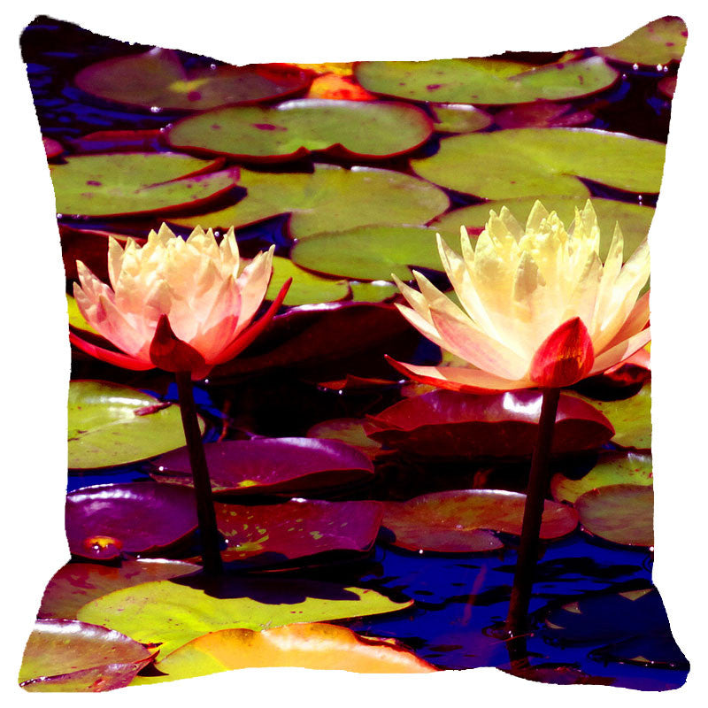 Leaf Designs Lightening Lotus Cushion Cover