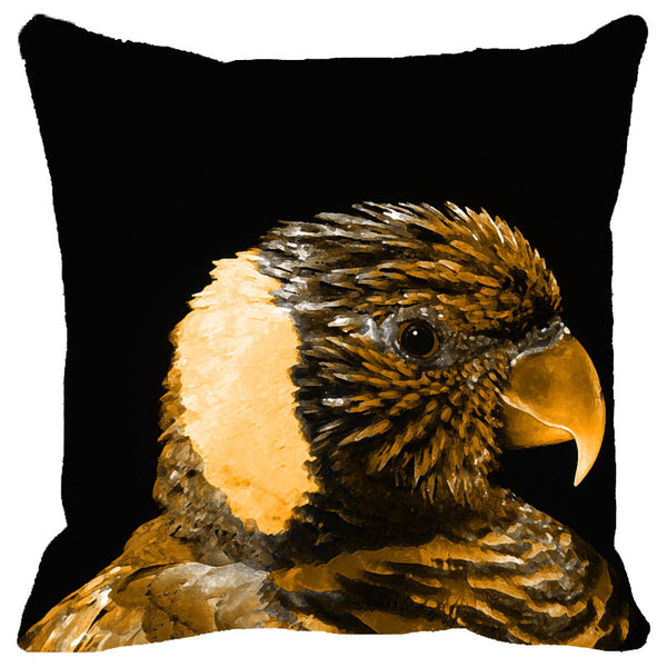 Leaf Designs Sepia Parrot Cushion Cover