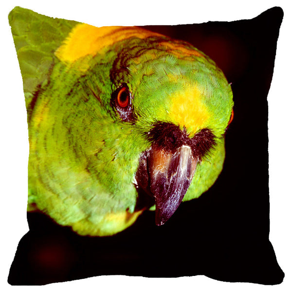 Leaf Designs Green Parrot Cushion Cover