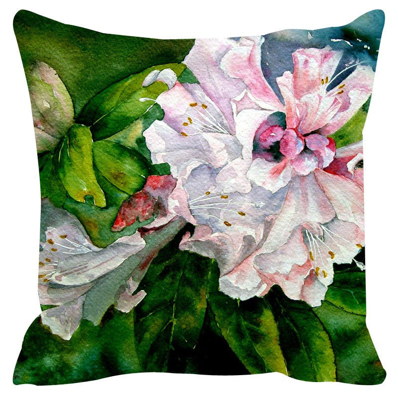 Leaf Designs Grey & Green Cushion Cover Set Of 2