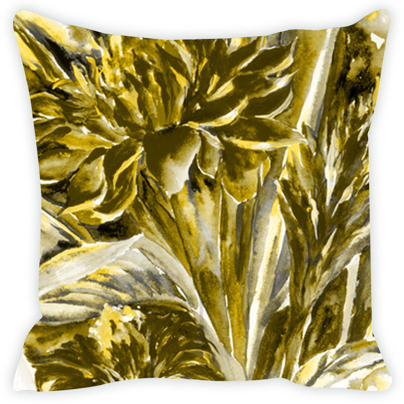 Leaf Designs Khaki Cushion Cover