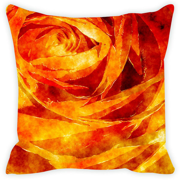 Leaf Designs Orange & Yellow Cushion Cover