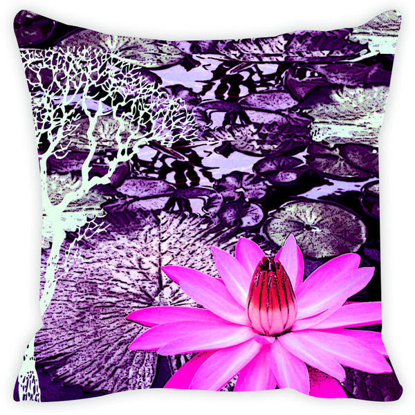 Leaf Designs Purple Tree Cushion Cover