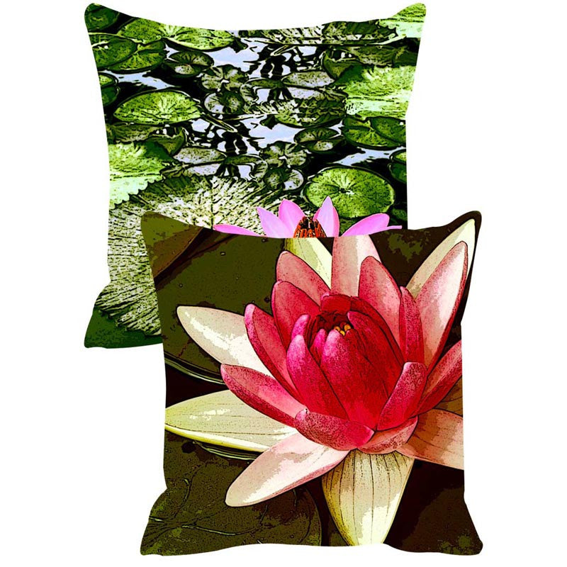 Leaf Designs Green Leaves Cushion Cover Set Of 2