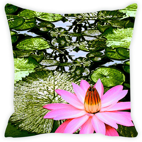 Leaf Designs Green Leaves Cushion Cover