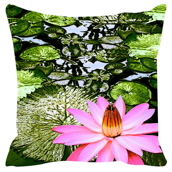 Leaf Designs Green Tones Cushion Cover Set Of 2