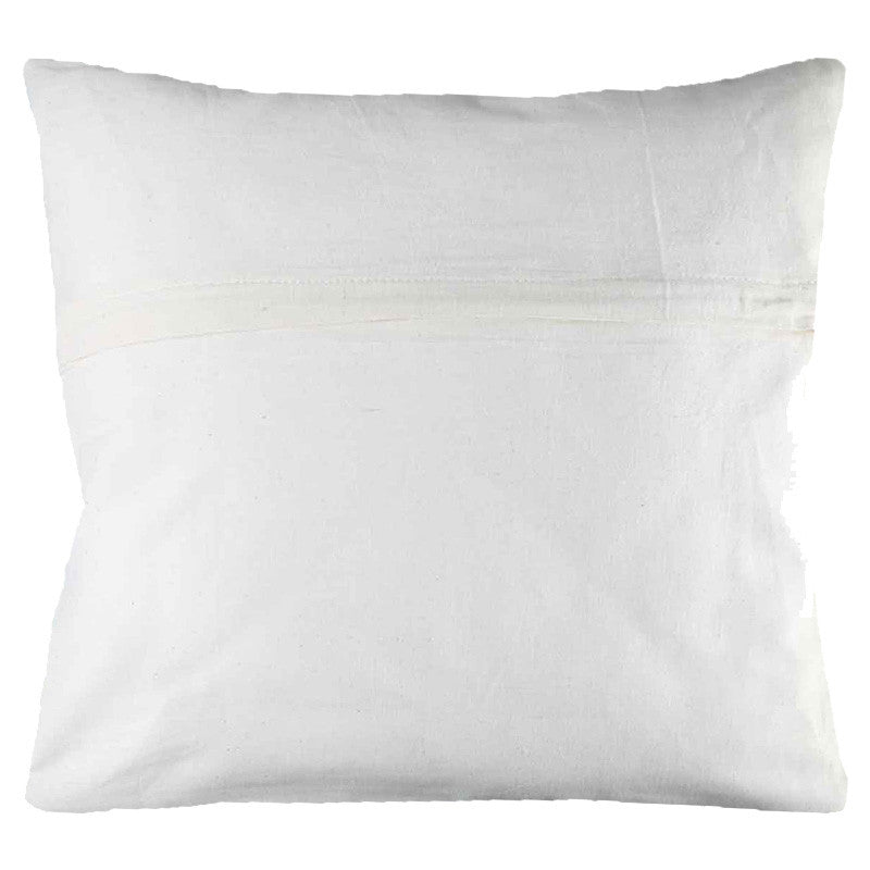 Leaf Designs White Peacock Cushion Cover (A)