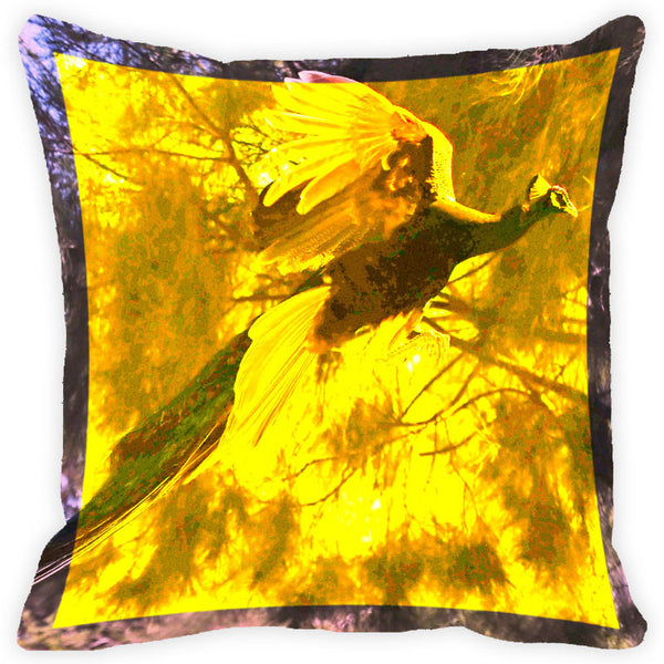 Leaf Designs Vintage Peacock Cushion Cover (E)